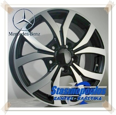 ΖΑΝΤΕΣ 16'' MERCEDES REPLICA 6.5x16 5x112 ET49 BLACK ΚΩΔΙΚΟΣ :871